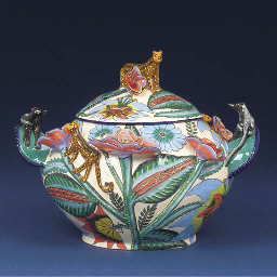 A leopard tureen and cover