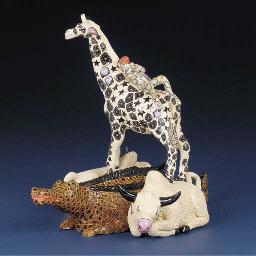 A giraffe sculpture