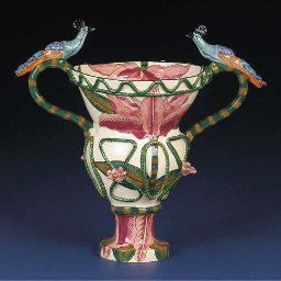 A peacock vase