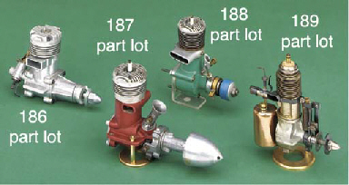 A group of aero engines,