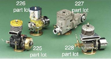 A glow plug racing car engine,