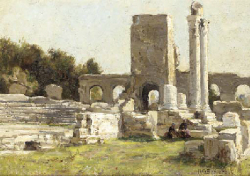 A view of the Roman Theatre at