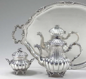 A CONTINENTAL FOUR-PIECE SILVE