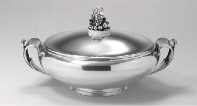 A DANISH SILVER VEGETABLE DISH