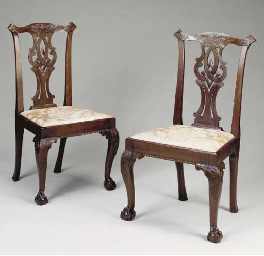 A PAIR OF GEORGIAN CARVED MAHO