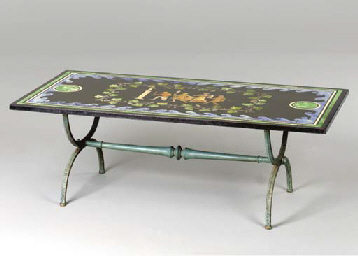 A SCAGLIOLA LOW TABLE,