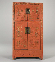 A CHINESE RED LACQUER MARRIAGE