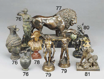 A bronze figure group