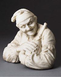 An Italian marble bust of an e