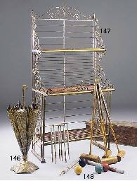 A French steel and brass Baker