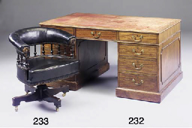 A mahogany partners desk