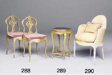 A FRENCH GILTWOOD GUERIDON
