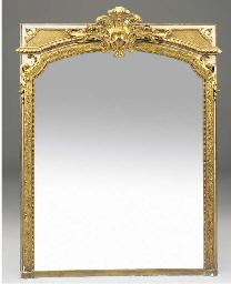 A Victorian gilt composition a