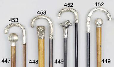 A silver mounted malacca cane