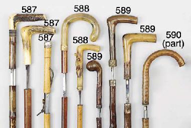 A gnarled wood sword stick