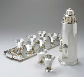 A SILVER AND MOONSTONE COCKTAI