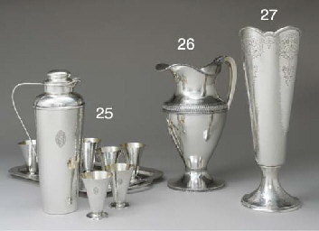 A SILVER COCKTAIL SET