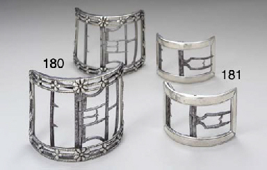 A PAIR OF SILVER SHOE BUCKLES