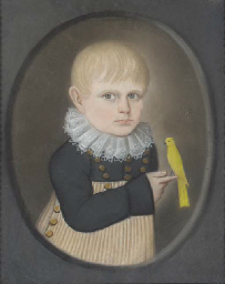 Portrait of a Boy with a Yello