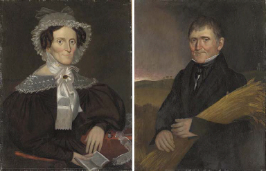 Pair of Portraits:  A Lady and