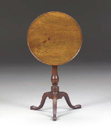 A CHIPPENDALE WALNUT TILT-TOP