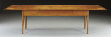 A SHAKER PINE AND MAPLE DINING