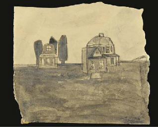 Untitled (Houses in Landscape)