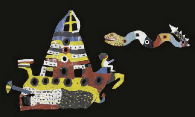 Untitled (Ship and Sea-Snake)