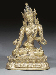 A Nepalese bronze model of a d