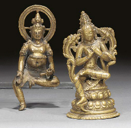 A Nepalese bronze model of Tar