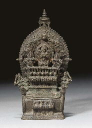 A bronze Nepalese shrine, 19th