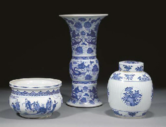 A Chinese blue and white cense