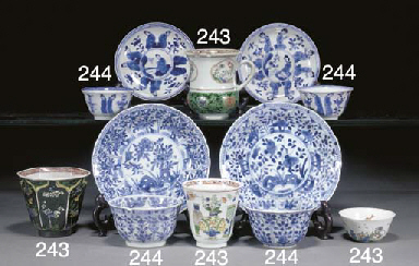 A selection of Chinese blue an