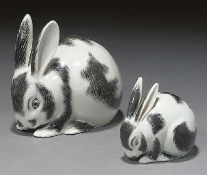 Two Japanese black and white g