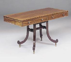 A MAHOGANY SOFA TABLE