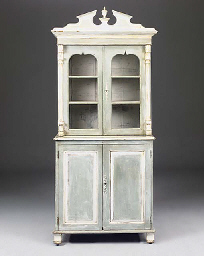 A FRENCH PAINTED BUFFET A DEUX