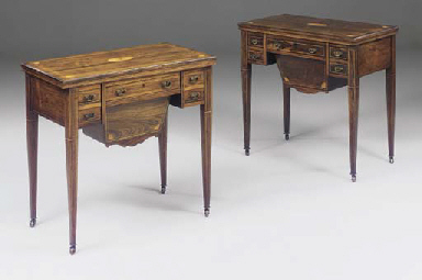 A NEAR PAIR OF EDWARDIAN ROSEW