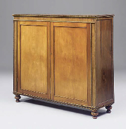 A LATE REGENCY MAHOGANY LOW CU