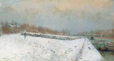 Port de Bercy, en hiver