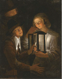 Merrymaking by lamplight