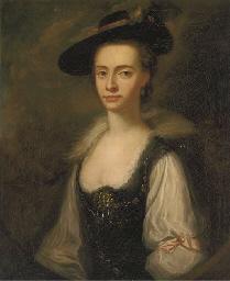 Portrait of Anne Townley, half