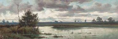 Windmills on the horizon towar