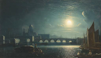 Trading vessels on the Thames