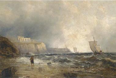 Fishing vessels off the coast,