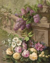 Hydrangeas, roses, rhodedendro