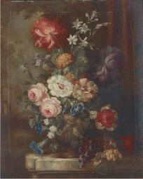 Roses, petunias, dahlias, camp