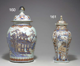 A LARGE CHINESE IMARI JAR AND
