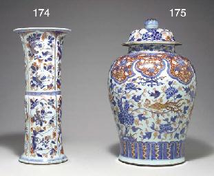 A VERY LARGE CHINESE IMARI JAR