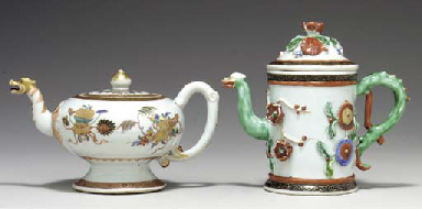 TWO FAMILLE VERTE POTS AND COV