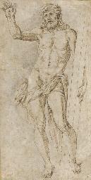 Christ holding the cross
